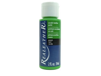 Acrylic Leather Paint: Green (2 ounce bottle) acrylic leather paints, real leather paints
