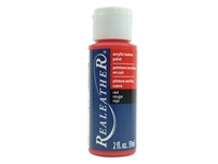 Acrylic Leather Paint: Red (2 ounce bottle) acrylic leather paints, real leather paints