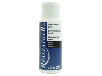 Acrylic Leather Paint: White (2 ounce bottle) acrylic leather paints, real leather paints