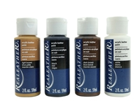 4-Pack of Acrylic Leather Paint: Earthtone Colors 4 pack of acrylic leather paints, real leather paints