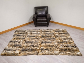 Argentine Gray Fox Rug: 6x8 ft