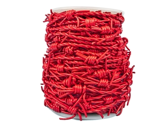 9UC4I 297-RW15x25-RD Red Round Leather Barb Wire Cord 1.5mm x 25m
