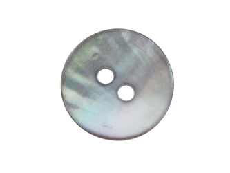 "Smoked Akoya Mother of Pearl Button: 20L (12.5mm or 0.492"") mother-of-pearl buttons, mother of pearl shell buttons, nacre, acoya, agoya"