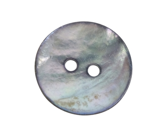 "Smoked Akoya Mother of Pearl Button: 24L (15mm or 0.590"") mother-of-pearl buttons, mother of pearl shell buttons, nacre, acoya, agoya"
