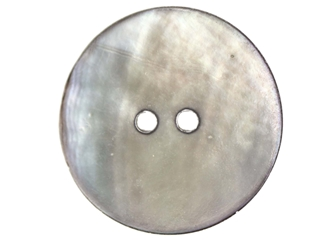 "Smoked Akoya Mother of Pearl Button: 44L (28mm or 1.1"") mother-of-pearl buttons, mother of pearl shell buttons, nacre, acoya, agoya"
