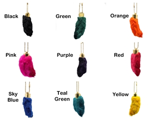 Dyed Rabbit Foot Keychain: Assorted Colors