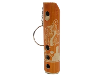 Mini Bamboo Flute Whistle Keychain
