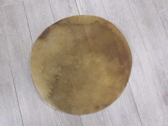 "Elk Rawhide Drum Cover: 22"" elk discs, elk rounds, elk drum covers"