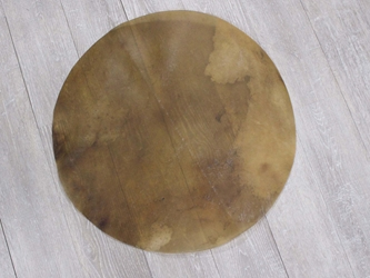 "Elk Rawhide Drum Cover: 24"" elk discs, elk rounds, elk drum covers"