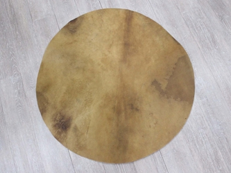 "Elk Rawhide Drum Cover: 36"" elk discs, elk rounds, elk drum covers"