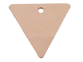 Leather Triangle with Hole leather triangles, leather cut-outs, leather cutouts, leather cut outs