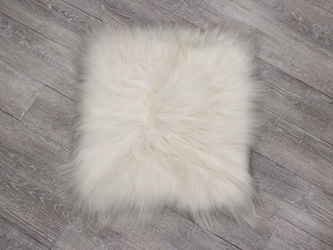 "Icelandic Cushion Cover: ~20"" x 20"": White Icelandic Sheepskin Pillow Covers, Icelandic Sheepskin Pillows"