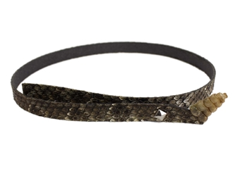 "0.5"" Real Rattlesnake Hat Band with Rattle and Pyramid Pin rattlesnake hatbands"