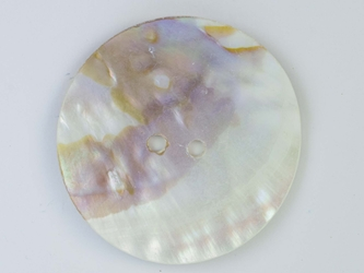 "Freshwater Mother Of Pearl Button: 100L (63.5mm or 2.5"")"