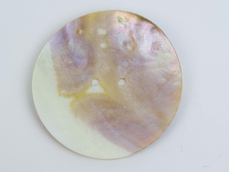 "Freshwater Mother Of Pearl Button: 120L (76.2mm or 3"")"