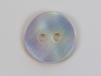 "Freshwater Mother Of Pearl Button: 18L (11.6mm or 0.457"")"