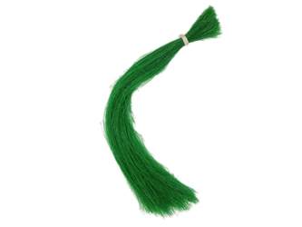 "Dyed Horse Tail Hair: Double Drawn: 13-14"": Green (oz)"