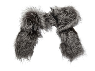 Silver Fox Parka Ruff/Collar fur strips, fur collars