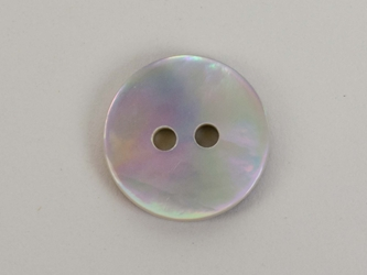 "Brown Mother Of Pearl Button: 20L (12.5mm or 0.492"")"