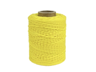 Macrame/Jewelry Twine: Polyester: 2-Ply: Waxed: 2 oz: Yellow