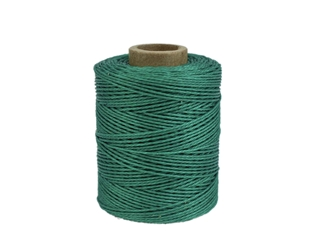 Macrame/Jewelry Twine: Polyester: 3-Ply: Waxed: 2 oz: Emerald Green