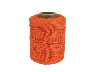 Macrame/Jewelry Twine: Polyester: 3-Ply: Waxed: 2 oz: Orange