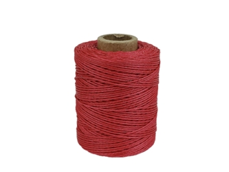 Macrame/Jewelry Twine: Polyester: 3-Ply: Waxed: 2 oz: Red