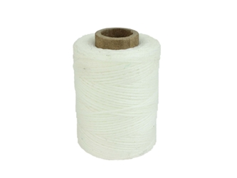 Macrame/Jewelry Twine: Polyester: 3-Ply: Waxed: 2 oz: White