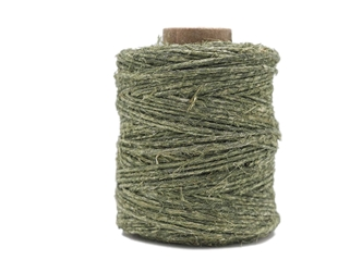 Antiqued Hemp Cord: 2-ounce Roll: Olive