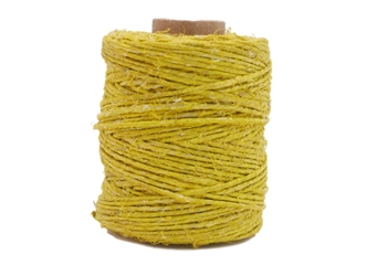 Antiqued Hemp Cord: 2-ounce Roll: Yellow