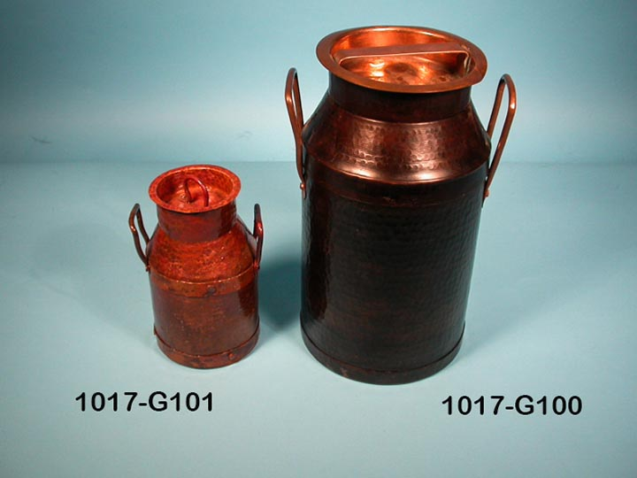 Mexican Copper Milk Can: Gallery Item