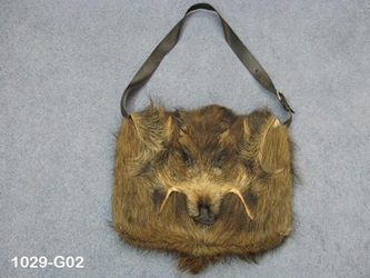 Wild Boar Bag: Gallery Item leather belts, hair-on cow leather belts