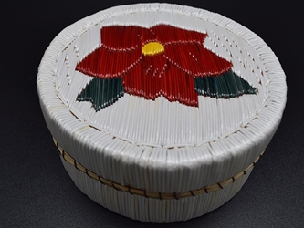 Ojibwa Porcupine Quill Box: Gallery Item