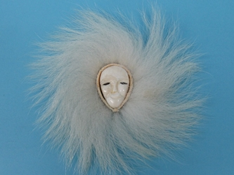 Alaskan Ivory Face with Polar Bear Fur: Gallery Item