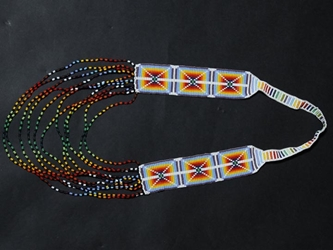 Colombian Beaded Pattern Necklace: Gallery Item