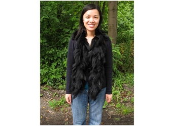 Black Dyed Fox Boa: Gallery Item fox flings, fox fur flings, fox fur boas, fox fur scarves
