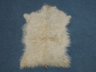 Angora Goatskin: #1: Large: White: Gallery Item