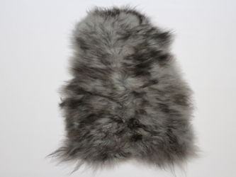 Dyed Icelandic Sheepskin: 90-100 cm: Gray Dark Tops: Gallery Item