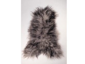 Dyed Icelandic Sheepskin: 90-100 cm: Silver Dark Tops: Gallery Item