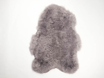 Dyed Icelandic Sheepskin: Shorn: 90-100cm: Gray: Gallery Item