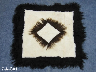 Patterned Icelandic Sheepskin Rug: Gallery Item