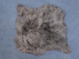 Icelandic Sheepskin Double Rug: Dyed Gray: Gallery Item
