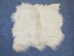Icelandic Sheepskin Rug: ~4x4 ft: White: Gallery Item - 7W0404-G302 (Unit 11)
