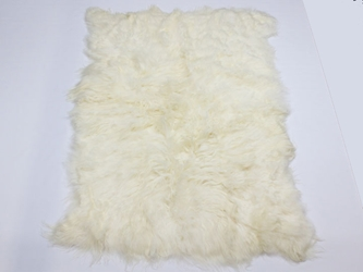 Icelandic Sheepskin Rug: ~5x8 ft: White: Gallery item