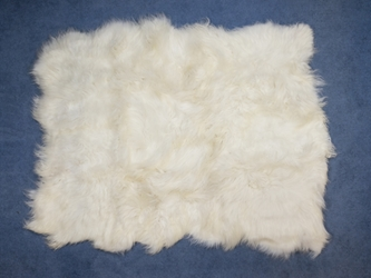 Icelandic Sheepskin Rug: ~6x8 ft: White: Gallery Item