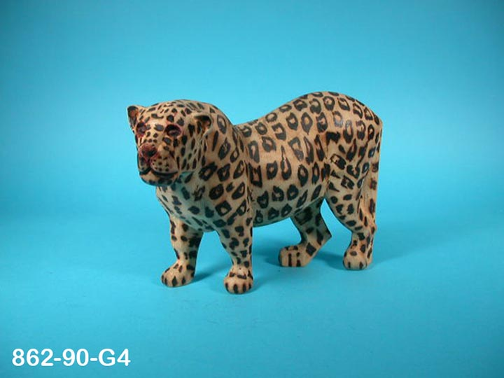 African Leopard Wood Carving: Gallery Item