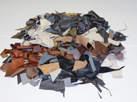 Cow Upholstery Leather Scrap: 10-lb Box: Gallery Item