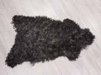 Gotland Sheepskin: Curly Gray: 100-110cm: Gallery Item