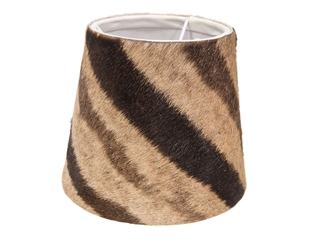 Zebra Skin Lampshade: Small: Gallery Item