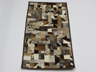 Brown Mixed Game Skin Rug: Gallery Item